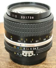 Nikon 35mm f/2 AiS Manual Focus Wide Angle Prime Lens