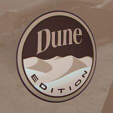 "Custom Badge Emblem Pair ""DUNE EDITION""  Decal Sticker Jeep Sahara Baja Buggy"