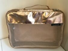 bebe 2-pc Travel Mesh Cosmetic Makeup Pouch Bag Gold