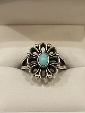 James Avery De Flores Ring with Turquoise Size 8