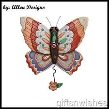 "UNIQUE & QUIRKY ""Free Flying""  Butterfly Designer Pendulum Wall Clock"