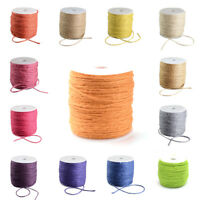 109yds/Roll Colored Hemp Cords Jute Twine String Rope Threads Spool Wrapping 2mm