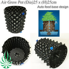 [4x] Solid Auto Feeding Base Root Limit Control Air Prunning Grow Pot 25x25cm