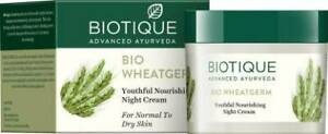 Biotique Bio Wheat Germ Youthful Nourishing NIGHT CREAM For Normal To Dry Skin