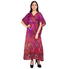 Paisley Bohemian Long Women's Kaftan Night wear Maxi Dresses Dress