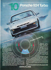 """1981 Porsche 924 Turbo Coupe photo """"The Details of Winning"""" promo print ad"""