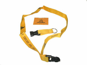 "32"" Gadsden Yellow Don't Tread On Me Printed Lanyard With Detachable Key Ring"