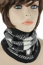 Women Scarf Turtle Neck Warmer Head Cover Outdoor Face Mask Sport Black White