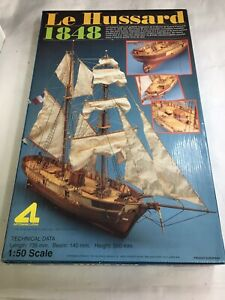 Wooden Model Ship Kit Le Hussard 1848