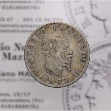"""2 Lire 1863 N Napoli """"Stemma"""" (Regno Italia Vitt Em II) B-MB LOT1522"""
