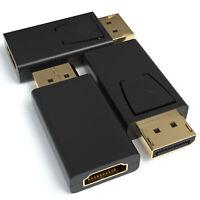 3x Displayport zu HDMI Adapter DP 1.2 Konverter 4K 1080p Audioübertragung