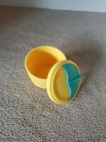 Vintage Tupperware Small Yellow Container with Lid #2547