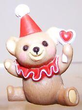 1987 New Hallmark Valentine Merry Miniature Clown Teddy Bear Never Used Vha3519