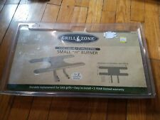 "NEW GRILL ZONE SMALL ""H"" BURNER Replacement STAINLESS STEEL 15 3/4"" X 8"" X 5"""