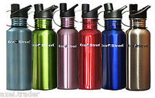 2 (TWO) STAINLESS STEEL WATER DRINK BOTTLE 600ml 2 BOTTLES FOR THE PRICE OF ONE