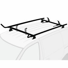Chevy City Express 2015-present Black 2x Ladder Holder Aluminum Roof Rack