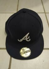 Atlanta Braves New Era** 59FIFTY 7 3/8 Fitted Hat Navy! *FAST*SAFE*SHIP*