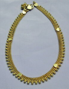 22 k solid gold anklet ankle chain -11139