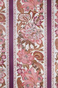 **F Schumacher - Anjou Stripe - Rose. 9 metres. Linen. Upholstery Fabric**