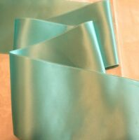 "2"" WIDE SWISS DOUBLE FACE SATIN RIBBON-  AQUA - BY THE YARD"