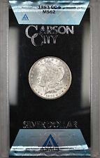 1883-CC GSA Hoard Morgan Silver Dollar $1 Coin ANACS MS-62 with Box & COA (1B)