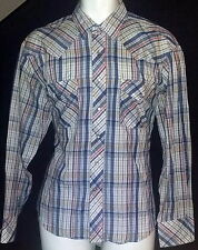 Impulse Vintage Pearl Snap Western Shirt Mens Sz 16 1/2