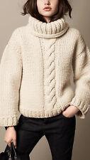 Women's Hand Knitted Turtleneck Sweater XS,S,M,L,XL,XXL Wool Hand Knit jacket 8