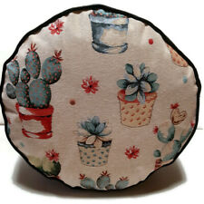 POTTED CACTUS  UPHOLSTERY  FABRIC POUFFE FAUX LEATHER  FLOOR CUSHION FOOTREST