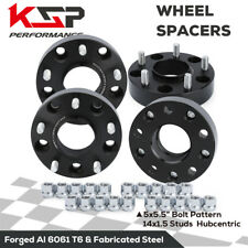 "2012-2019 Ram 1500 5x5.5 1.5"" Thick Black Hub Centric Wheel Spacers Adapters"