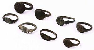 8 ANTIQUE Ring ROMAN Empire or VIKING Jewelry KIEVAN Rus' BRONZE 27x25x16 mm