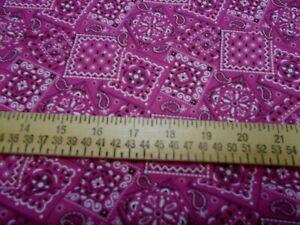1 yard Flamingo Pink Bandana Fabric