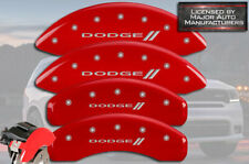"2011-2020 ""Dodge //"" Durango Front + Rear Red MGP Brake Disc Caliper Covers 4pc"