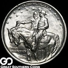 1925 Stone Mountain Commemorative Half Dollar, Lustrous Commem