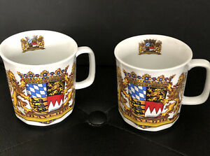Bayern Munich Soccer Club Ribbed Coffee Mugs - Set Of Two Unused