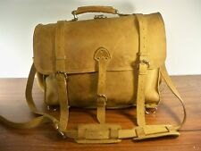 Rustic Leather Laptop Attorney Lawyer Bag Satchel Backpack Brown Briefcase LARGE