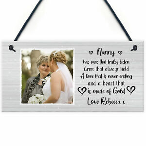 Nanny Gift Personalised Hanging Plaque Gift For Nanny Birthday Mothers Day Gift