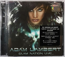 ADAM LAMBERT Glam Nation Live 2011 MALAYSIA DELUXE EDITION  CD + DVD RARE NEW