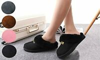 New GCG Geniune Ladies Faux Sheepskin Slippers Mules Non Slip Hard Sole Women