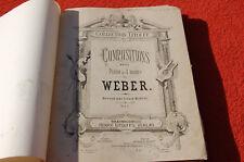 """Antigüo partitura colección LITOLFF """" 1885 """" para el piano"""