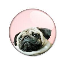 Badge PETIT CHIEN BOULEDOGUE CARLIN 02 boudeur français pink kawai hipster Ø25mm