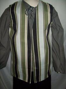 New Handmade Renaissance / Pirate Boy's Vest Size 7/8 Various Colors