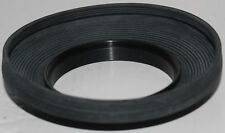 58mm screw-on threaded rubber lens hood