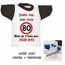 Mini tee shirt voiture humour vitesse 80 km heure  personnalisé réf 02