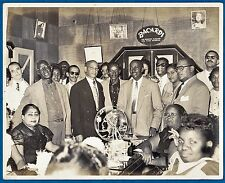 vintage large photo black African American Bacardi Hatuey ads Cuba foto ca 1955