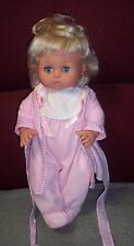 "Cute Blonde TS16 Baby Doll In Pink 15"" Tall Drink & Wet O/C Eyes GUC"