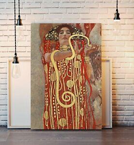 CANVAS WALL ART PRINT ARTWORK PICTURE FRAMED POSTER Gustav Klimt Hygieia Goddess
