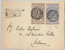 64154 -  REGNO - STORIA POSTALE : Sass # 147 + 148  PREVIDENZA CN su BUSTA 1923