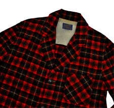 Pendleton Vintage 49er Jacket Med Tartan Plaid Red Black Blazer Sport Coat Patch