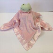 Hallmark Frog Pink Security Blanket Lovey Green Satin