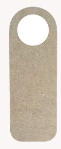 5 x Wooden Door Handle Hangers Wood Sign Shape Blank Craft Plaque Decoration MDF